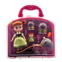 漫画家公主安娜公主灰姑娘迷你娃娃玩偶套装礼盒男孩儿童宝宝玩具 新版安娜公主 玩具套装
