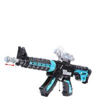 宜佳达 儿童玩具枪电动小孩仿真机关枪冲锋枪枪3-6岁男孩子声光六一儿童节礼物 红海利刃 蓝色 3节充电电池 送充电器