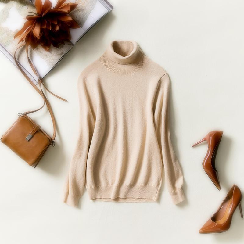 高领羊毛衫女2018新款韩版修身秋冬短款羊绒打底衫的毛衣