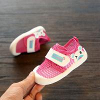 幼儿网鞋女网面鞋子1-3岁婴儿凉鞋学步鞋子透气夏季男宝宝凉鞋