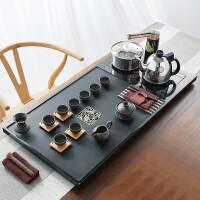 【新品热卖】茶具乌金石茶盘茶具盘石托盘大小号黑金石茶海石茶台单层茶