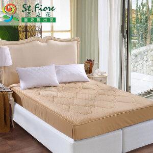 [当当自营]富安娜床垫床笠款印花保护垫 香妃绒保护床垫 粉色 150*200