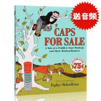 英文原版绘本 Caps for Sale 卖帽子 平装 百本好书推荐 廖彩杏书单推荐 经典英文绘本 Esphyr Sl