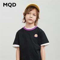 【2件3折:90】MQD童装男童2020夏装新款中大儿童短袖T恤上衣圆领宽松运动体恤潮