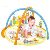 婴儿玩具0-1岁儿童卡通小熊维尼多功能脚踏钢琴 男孩女孩玩具音乐健身器生日礼物 维尼熊圆形脚踏钢琴