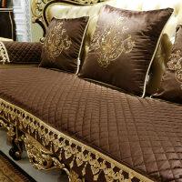 欧式沙发垫防滑123组合套四季通用客厅布艺美式真皮坐垫