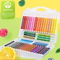晨光Kids食品级软头水彩笔套�b12色/48色儿童绘画笔三角杆可水洗笔学生食品级绘画水彩笔