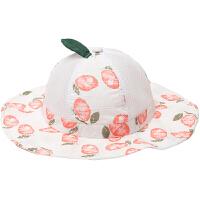 儿童太阳帽婴儿帽子夏季薄款男女宝宝渔夫帽遮阳帽盆帽