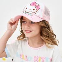 【4折价:31.2元】HELLOKITTY凯蒂猫儿童帽子春夏棒球帽女童潮遮阳防晒太阳帽小孩宝宝鸭舌帽子