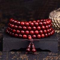 饰品印度小叶紫檀手串高密满金星108颗佛珠链项链男女款