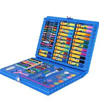 绘画工具套装 86件套画笔套装儿童绘画工具小学生水彩画笔美术学习用品生日礼物 86件套绘画套装 蓝色