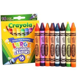 当当自营Crayola 绘儿乐 16色可水洗大蜡笔 52-3281