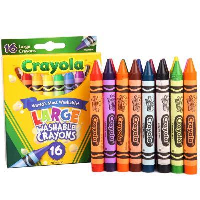 当当自营Crayola 绘儿乐 16色可水洗大蜡笔 52-3281【当当自营】美国儿童绘画品牌,新老包装更替随机发货 绘本蜡笔