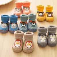 婴儿鞋袜软底宝宝学步袜秋冬儿童地板袜立体1-3岁