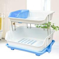 厨房置物架沥水架碗碟架水槽碗架塑料盘子架桌面收纳整理架架子