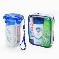 旅游便携用品洗漱包男洗护旅行套装洗发水沐浴露牙膏牙刷杯盒