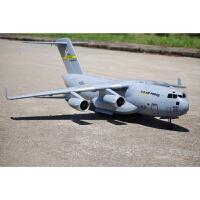 C17大力神运输机可投放降落伞四涵道大型航模战斗机固定翼真飞机 深灰色
