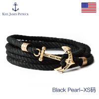 KJP手�男 �W生情�H手���手�K七夕�Y物手�女 情人��Y物潮牌 Black Pearl(XS�a)