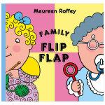Family Flip Flap 翻翻书:家庭 英文原版儿童绘本 适合3-6岁