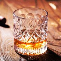 复古刻花威士忌杯 古典鸡尾酒杯 无铅古典杯洋酒杯冰球杯水杯酒杯