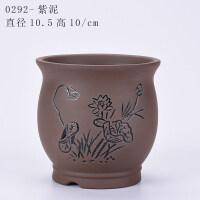 多肉小花盆手绘陶瓷简约创意花盆花卉菖蒲盆栽紫砂花盆 小