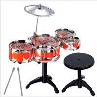 儿童仿真架子鼓套装乐器打击爵士鼓配凳子婴幼儿乐器启蒙玩具
