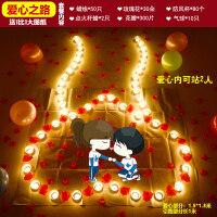 蜡烛浪漫生日求婚创意布置用品求爱表白情人节爱心形蜡烛情人节礼物