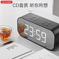创意蓝牙音响闹钟学生用床头卧室简约充电夜光智能小电子表时钟