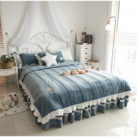 韩版冬珊瑚绒四件套夹棉加厚法兰绒法莱绒被套床裙1.5/1.8m米床上定制