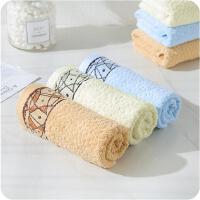 成人洗脸家用纯棉面巾情侣洗澡毛巾柔软吸水毛巾洗脸方巾 3条装