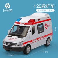 儿童警车车救护车男孩玩具车仿真合金公交车汽车模型抖音