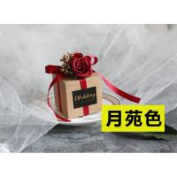 红色喜糖盒 欧式 玫瑰花喜糖盒透明森系婚礼用品伴手礼哲糖