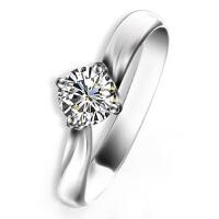梦克拉 pt950铂金戒指钻石戒指婚戒 星晴 结婚戒指钻戒 54分