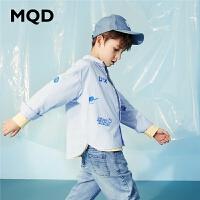 【2件3折:138】MQD童装男童满版长袖衬衫2020春季新款儿童卡通印花中大童衬衣潮