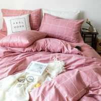 北欧四件套全棉纯棉简约学生宿舍床单人床上三件套1.2米被套被罩4