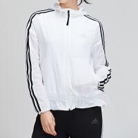 adidas女服外套夹克2019新款梭织休闲运动服DW4545