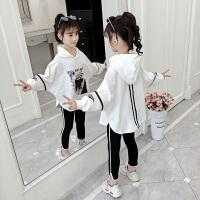 女孩时髦休闲儿童装女童套装2019秋季新款韩版洋气卫衣两件套