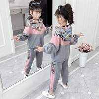 中大童洋气时髦女孩童装两件套2019春秋季新款女童套装