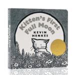 英文原版绘本Kitten's First Full Moon 小猫咪追月亮 凯迪克金奖 纸板书 常青藤爸爸书单