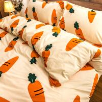 儿童四件套纯棉全棉女孩卡通被套1.2米1.5m床单人三件套床上用品4定制