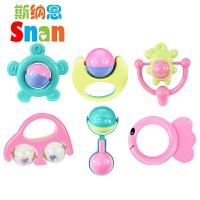 婴儿玩具手摇铃套装 0-1周岁儿童宝宝早教幼儿3-6-12个月 摇铃6件套