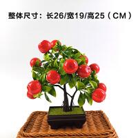塑料花仿真花迷你小盆栽 假花果树寿桃塑料水果客厅餐桌家居迷你创意装饰品苹果 Y