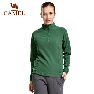 camel骆驼户外软壳衣 男女情侣装 运动时尚休闲抓绒衣