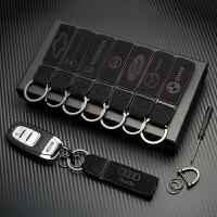 通用翻毛汽车钥匙扣男女士高档腰挂皮质遥控器钥匙圈挂件个性创意
