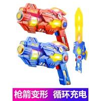 声光音乐玩具强剑变形儿童玩具3-6周岁男孩玩具枪电动男童枪小孩宝宝礼物 两把同时卖更划算 官方标配