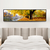 卧室装饰画床头有框画现代简约挂画客厅沙发背景墙画北欧风景壁画装饰字画