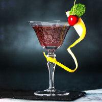 烤花鸡尾酒杯 马天尼杯 无铅水晶 干马天尼杯 创意古典高脚杯