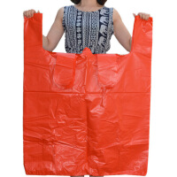 【好货】搬家用大塑料袋特大加厚红色背心袋服装打包袋大号手提塑料袋子家用垃圾袋S