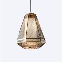 精美护眼时尚创意不锈钢组合工程吊灯设计师样板房金色LED网格餐厅卧室灯具精美时尚吊灯