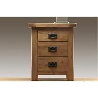 欧式白橡木实木家具 床头柜 三斗柜 床边柜 储物柜 整装